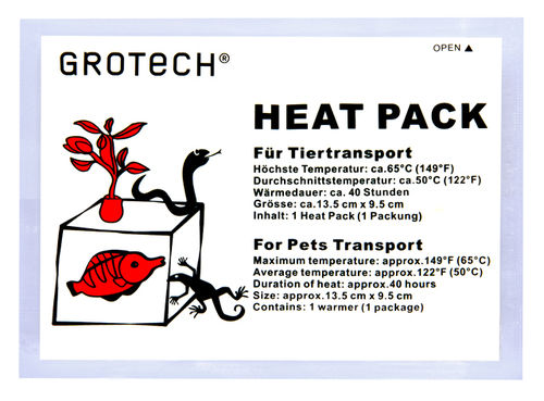 GroTech Heatpack für Tiertransport